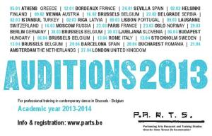 P.A.R.T.S Auditions 2013 -2